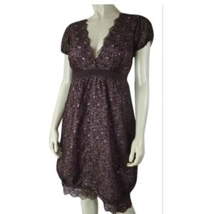 Nicole Miller Collection Dress 4 Silk Floral Lace